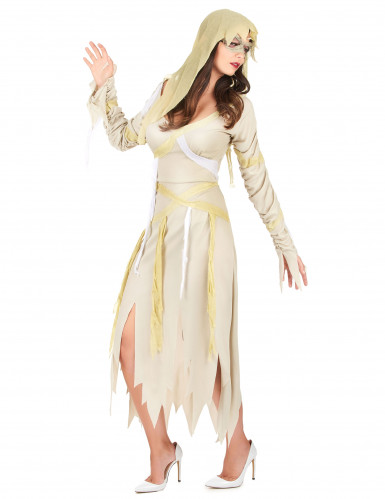 Déguisement momie beige femme-1