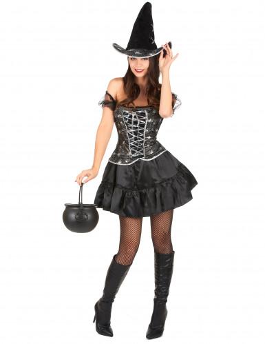Déguisement sorcière sexy à corsage femme Halloween
