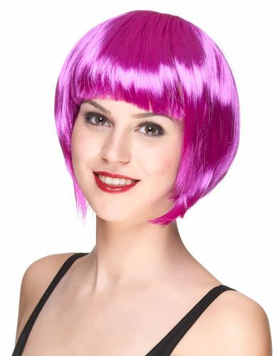 Perruque courte violette femme