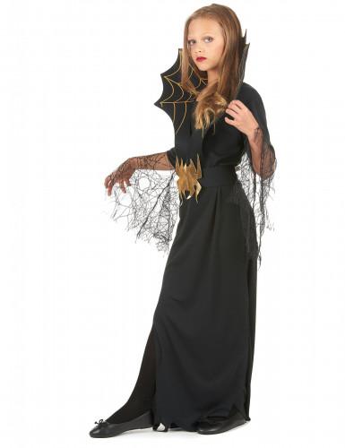Déguisement sorcière araignée dorée fille Halloween-1