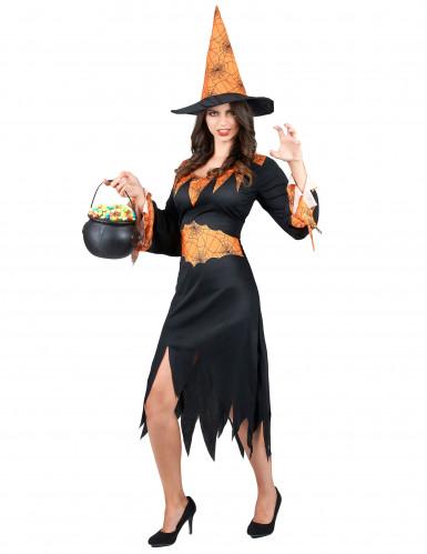 Déguisement sorcière araignée femme Halloween-1