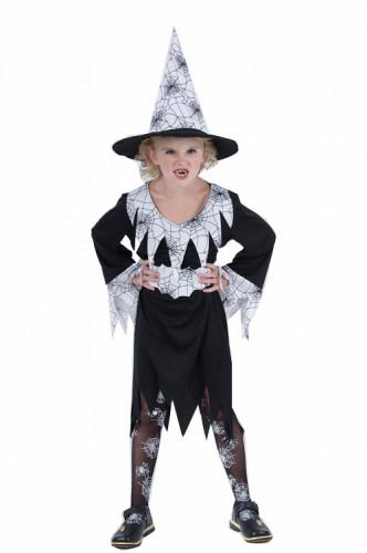 Déguisement sorcière araignée avec chapeau fille Halloween