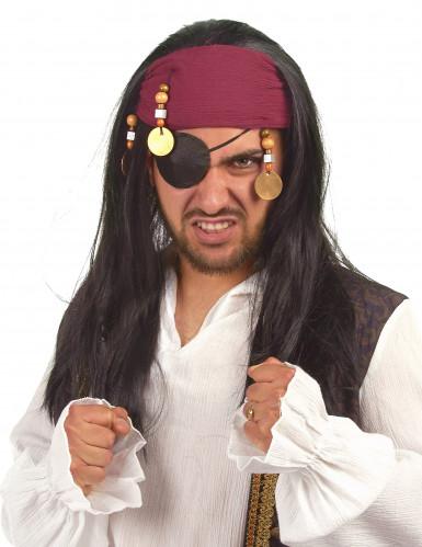 Perruque de pirate adulte