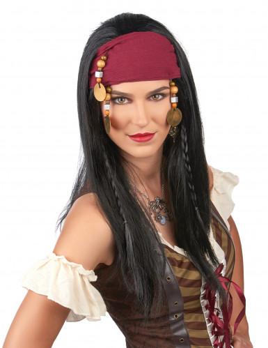 Perruque de pirate adulte-1
