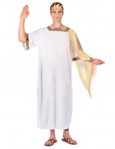 Déguisement empereur romain cape dorée homme
