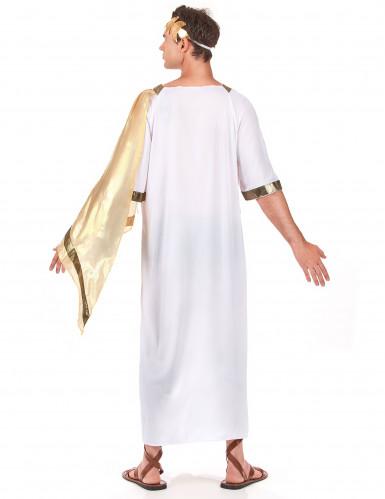 Déguisement empereur romain cape dorée homme-2
