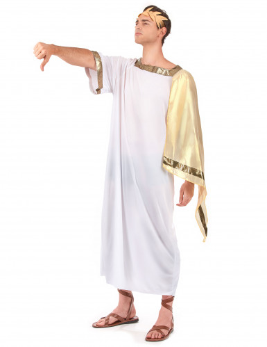 Déguisement empereur romain cape dorée homme-1