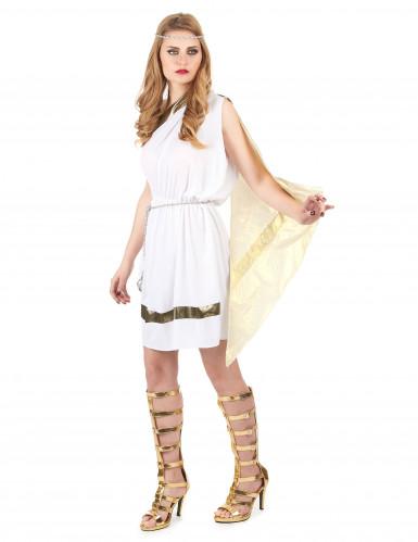 Déguisement déesse romaine avec cape femme-1