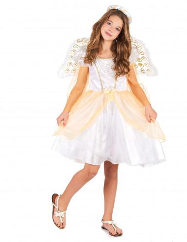 Déguisement ange blanc et doré fille