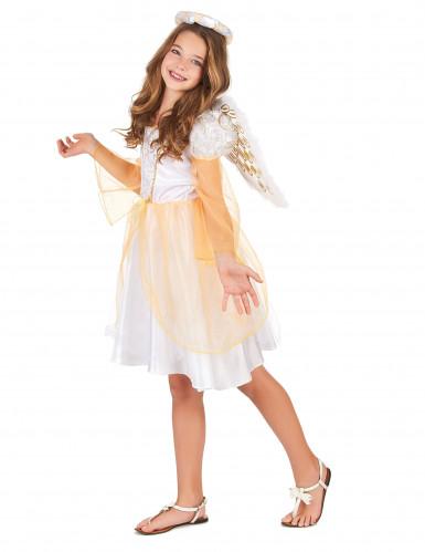 Déguisement ange blanc et doré fille-1