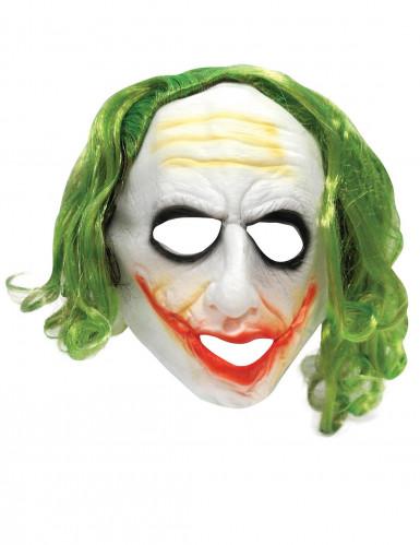 Masque Joker™ avec cheveux adulte-1
