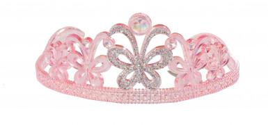 Diadème princesse papillon rose
