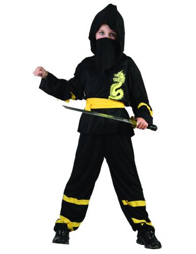 Déguisement ninja ceinture jaune garçon