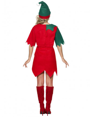 Déguisement elfe bicolore femme Noël-1