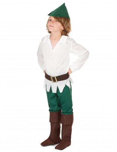 Déguisement garçon des bois blanc et vert-1