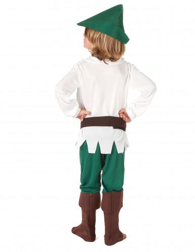 Déguisement garçon des bois blanc et vert-2