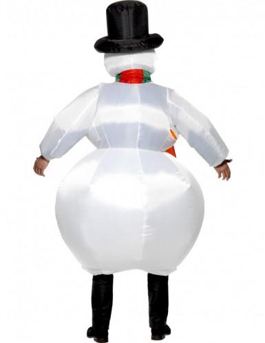Déguisement bonhomme de neige gonflable adulte-1
