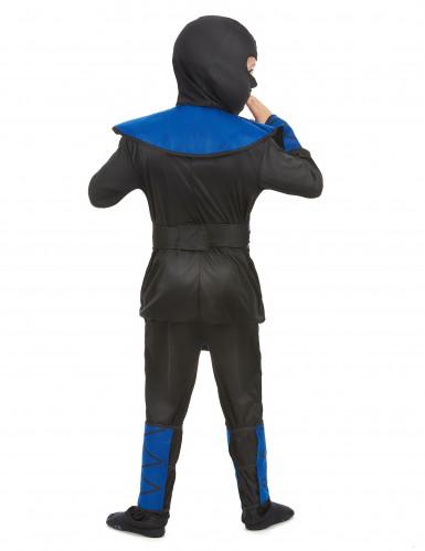 Déguisement ninja bleu et doré garçon-2