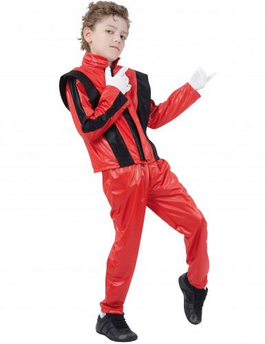 Déguisement star de la pop rouge garçon