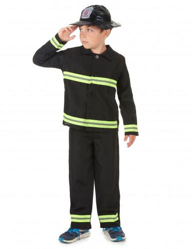 Déguisement pompier jaune et noir garçon-1