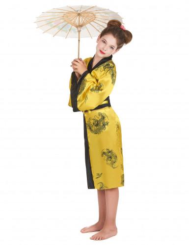Déguisement chinoise jaune fille-1