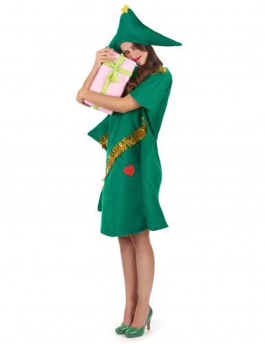 Déguisement sapin décoré humoristique femme Noël-1