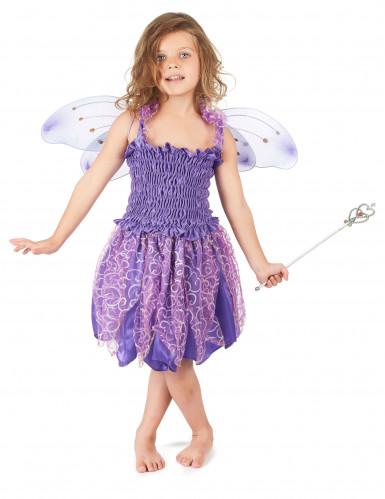 Déguisement fée violette fille