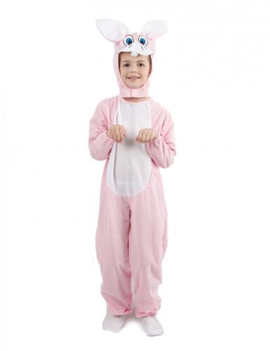 Déguisement lapin combinaison rose enfant