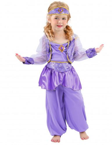 Déguisement danseuse orientale violette fille