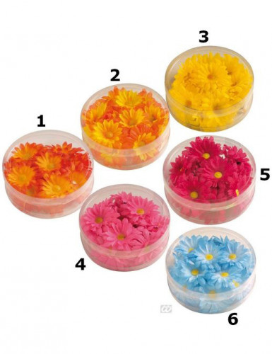 Décoration fleurs synthétique colorée
