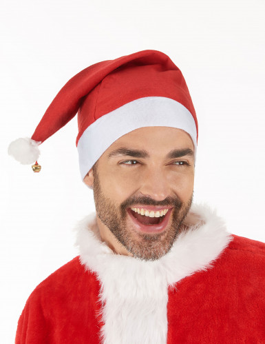 Bonnet de Noël avec grelot adulte-1