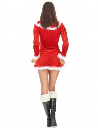 Déguisement Mère Noël sexy manches longues femme-2