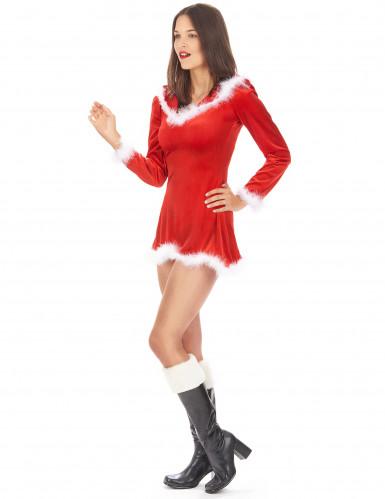 Déguisement Mère Noël sexy manches longues femme-1