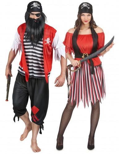 Déguisement couple de pirate