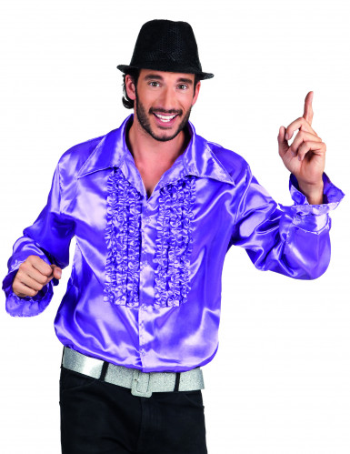 Chemise disco violette homme