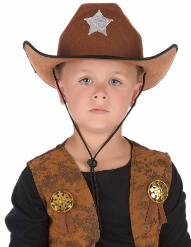 Chapeau sheriff marron-1