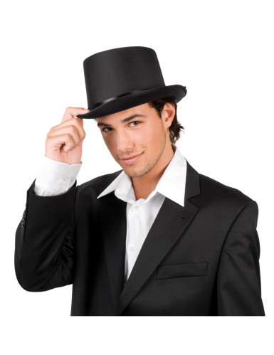 Chapeau haut de forme de gala noir adulte