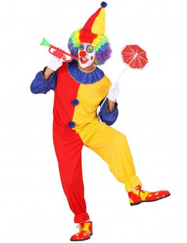 Déguisement clown bicolore homme