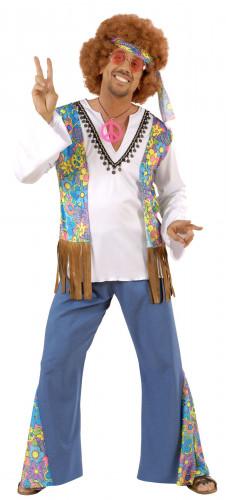Déguisement hippie motif fleurs homme