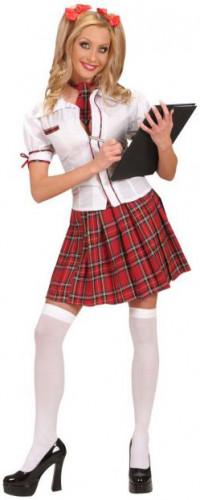 Déguisement écolière rouge femme