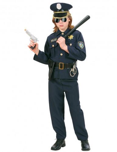 Déguisement policier bleu marine garçon-2