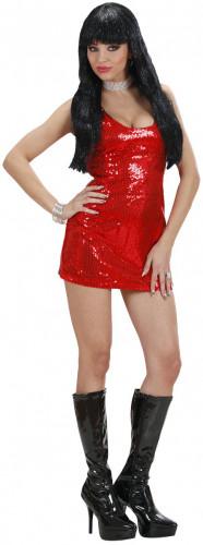 Déguisement robe disco femme rouge