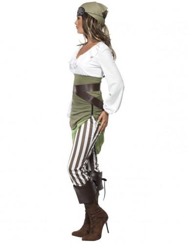 Déguisement pirate vert et blanc femme-1