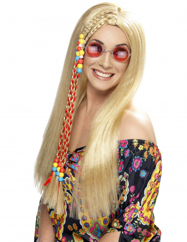 Perruque hippie blonde femme