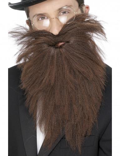 Barbe longue marron adulte