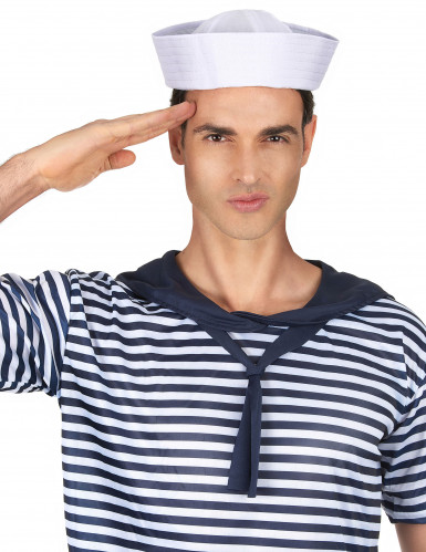 Chapeau marin blanc adulte-1