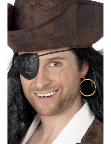 Boucle d'oreille et cache oeil pirate adulte