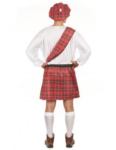Déguisement écossais rouge et blanc homme-2