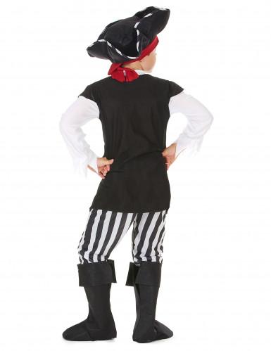 Déguisement pirate avec rayures noires et blanches garçon-2