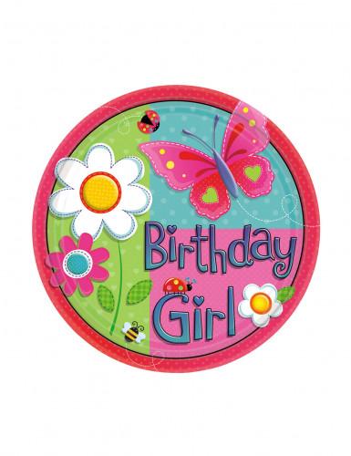 8 Assiettes birthday girl